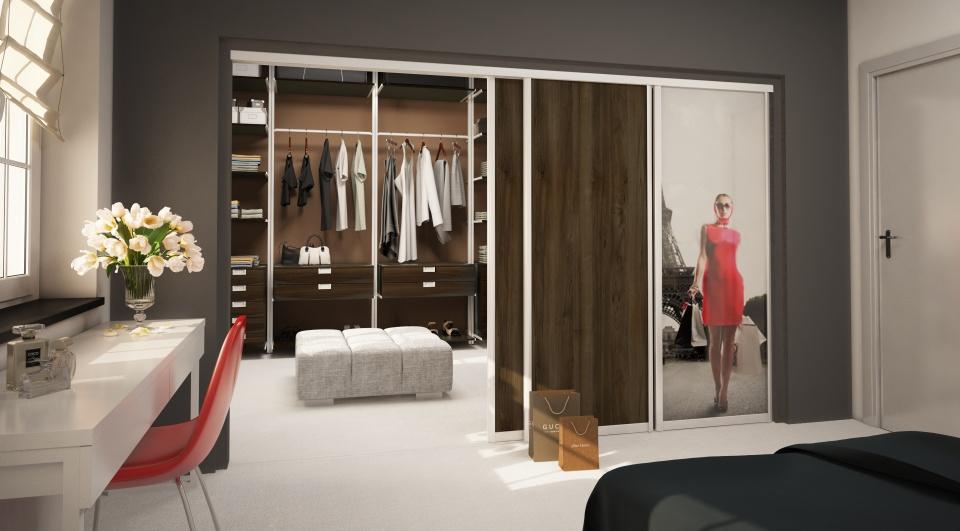 separation shoes af696 9e26b Walk in wardrobe Komandor - sliding door systems, furniture ...