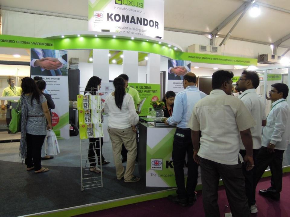 index trade fair in mumbai komandor de schiebet rensysteme einbauschr nke und m bel nach ma. Black Bedroom Furniture Sets. Home Design Ideas